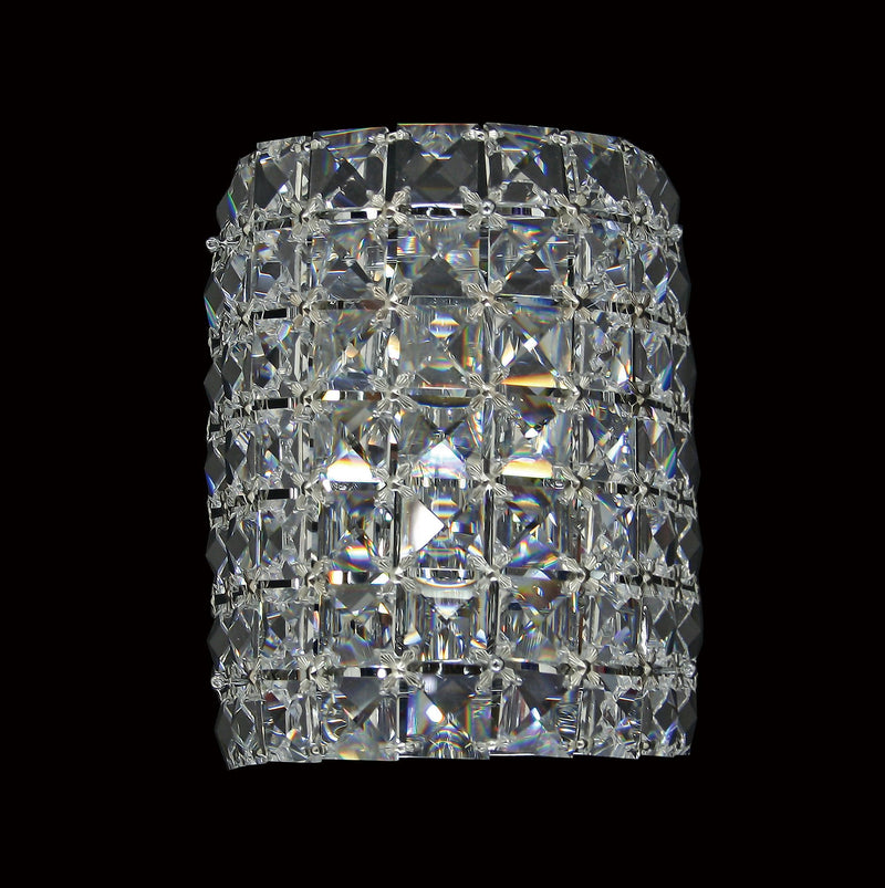 "22 Crystal Wall Light - 6"" 1 Light Chrome - Asfour Crystal [W-22-1L-22mm-63]"