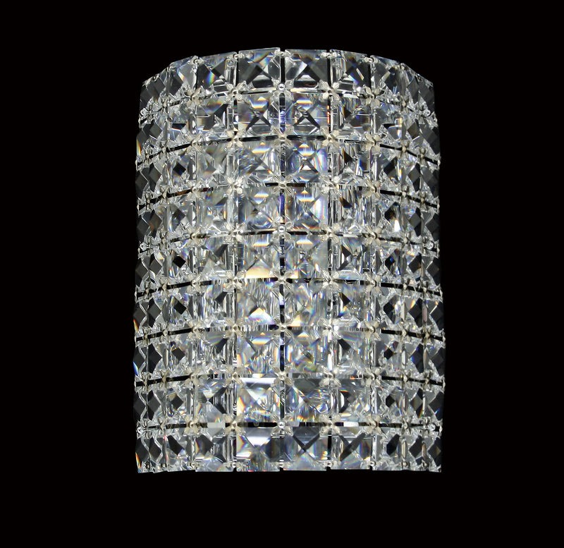 "22 Crystal Wall Light - 7"" 2 Light - Asfour Crystal [W-22-2L-22mm-90]"