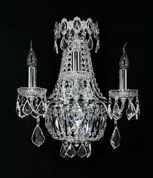 "6000 Crystal Wall Light - 16"" 5 Light - Asfour Crystal [W-6000-3L+(2L)-8016]"