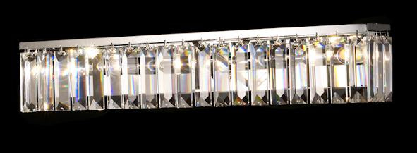 "610 Crystal Wall Light - 25"" Rectangle 3 Light - Asfour Crystal [W-610-3L-610-4-25]"