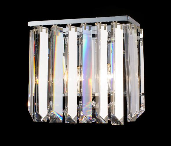 "6200 Crystal Wall Light - 9"" Rectangle 2 Light - Asfour Crystal [W-6200-2L-40mm-TR-12]"