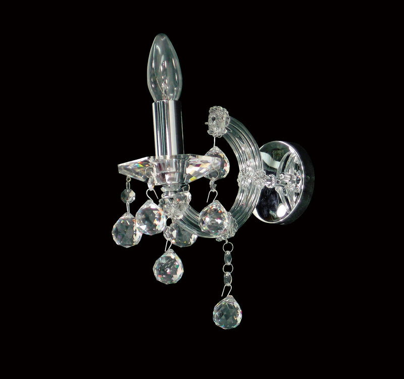 "6610 Crystal Wall Light - 4"" 1 Light - Asfour Crystal [W-6610-1L-1036-30mm]"