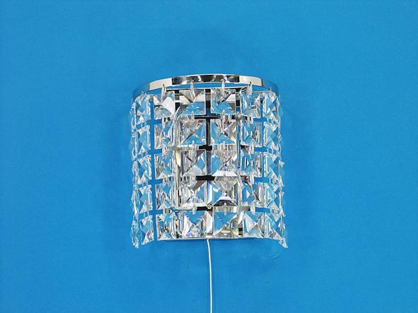 "678 Crystal Wall Light - 7"" 2 Light - Asfour Crystal [W-678-2L-2020-40]"