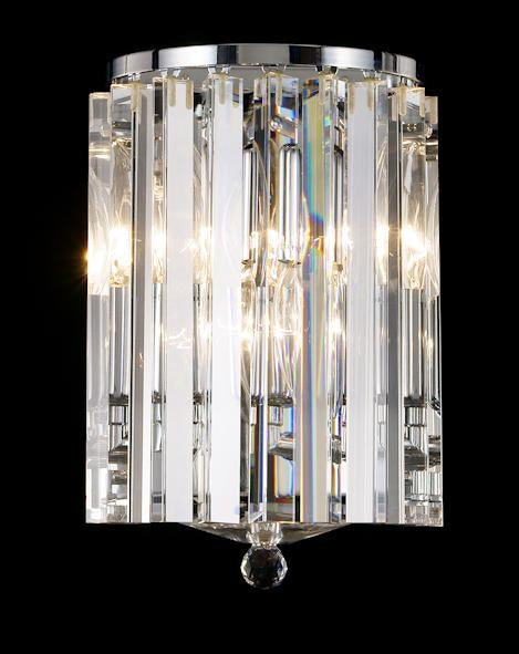 "678 Crystal Wall Light - 6"" 3 Light - Asfour Crystal [W-678-3L-9]"