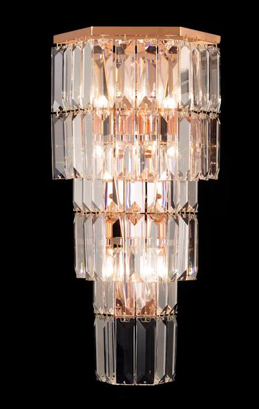 "678 Crystal Wall Light - 10.5"" 4 Light - Asfour Crystal [W-678(610-4)-3LAYERS]"