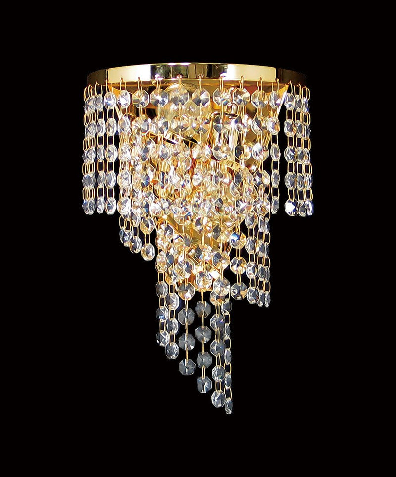 "701 Crystal Wall Light - 7.5"" 2 Light - Asfour Crystal 14mm Beads [W-701-2L-14mm]"