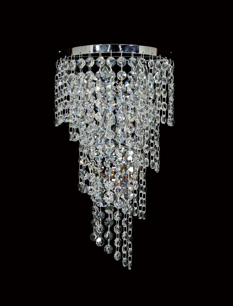 "701 Crystal Wall Light - 7.5"" 3 Light - Asfour Crystal 14mm Beads [W-701-3L-14mm]"