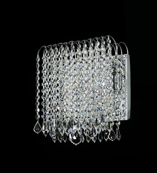 "8054 Crystal Wall Light - 10"" 2 Light - Asfour Crystal [W-8054-10""-2L]"