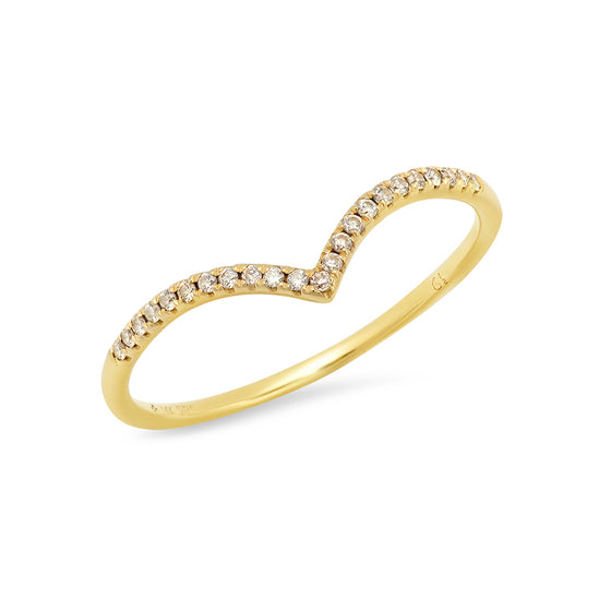 Pave Diamond Chevron Ring