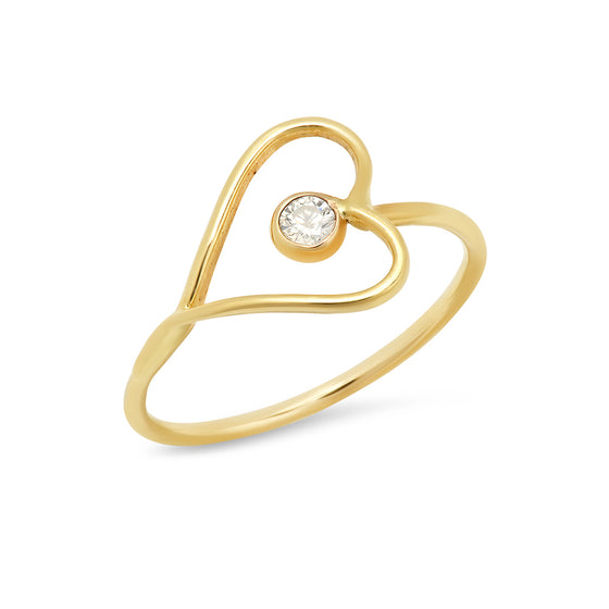 Vintage Heart and Diamond ring