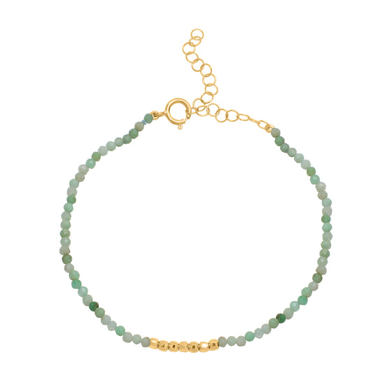 Golden Gem Strand  - Chrysoprase