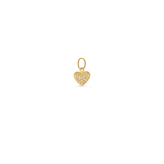 Diamond Pave Heart Charm
