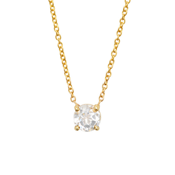 14 Karat Yellow Gold White Topaz necklace
