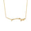 14K Yellow Gold Coral Branch Necklace