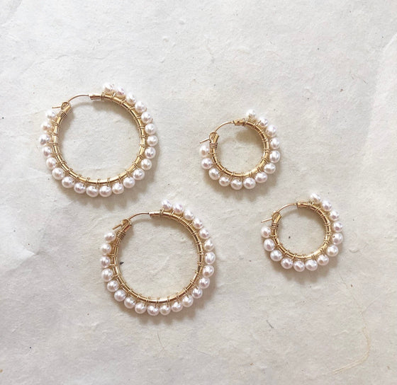 Lucia Pearl Hoops