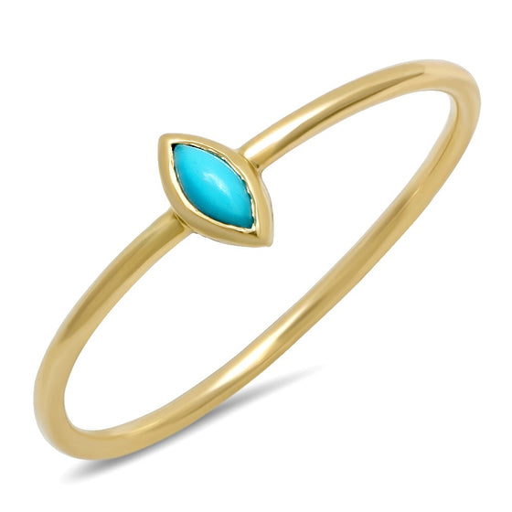 Tiny Marquis Turquoise Ring