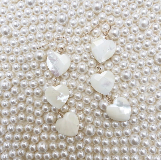 Tallulah heart drop earrings