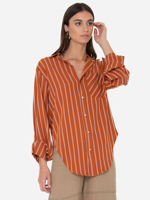 Selene Shirt Cinnamon Stripes