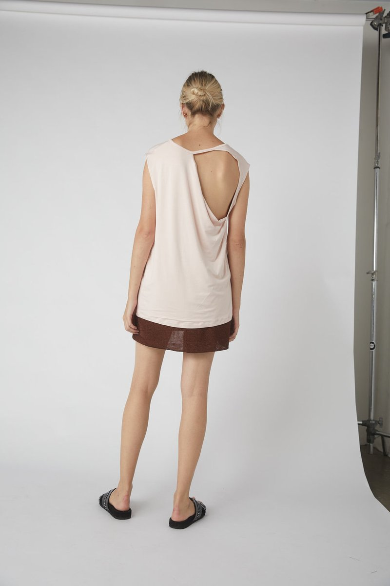 Petite Collapse Back Jersey Tank