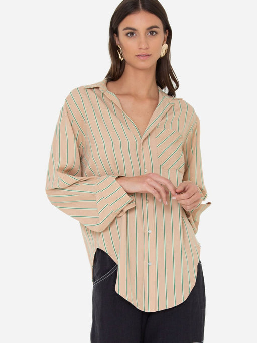Selene Shirt Beige Stripes
