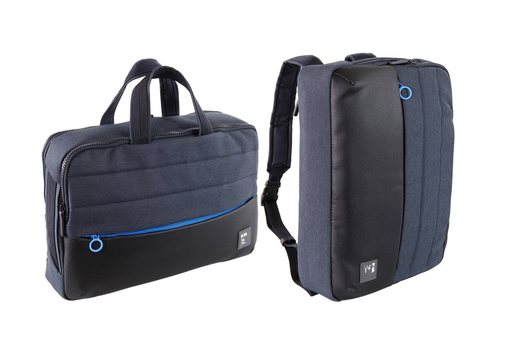 Passenger Briefcase / Backpack blue / l.blue