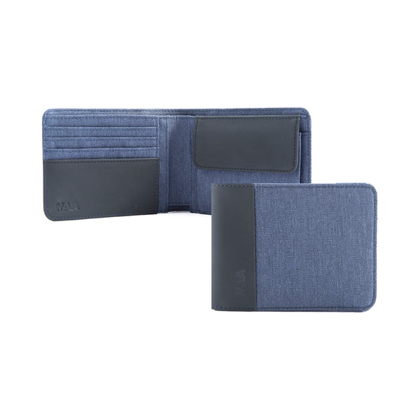 Twin Wallet coin slim blue