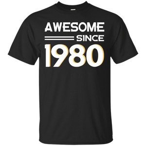 838187167d9a2 Awesome-Since-1980-T-shirt-36th-Birthday-Shirt36-