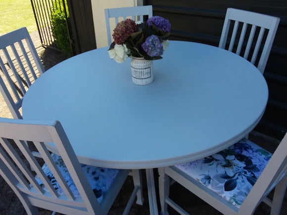 Upcycled 5 Seater Round Dining Suite (9001)