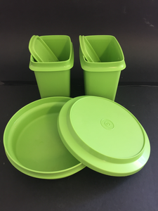 Retro Green Tupperware container set (7685)