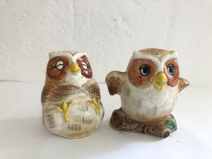Mary Ann Baker Japan Salt Pepper Owl Shakers (8171)