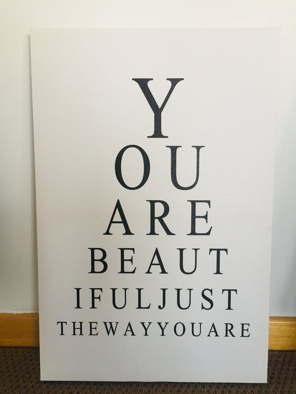 'You Are Beautiful' Canvas (ref: 6056)