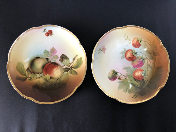 2 x J & C Louise Bavaria Hand Painted Plates (8261)