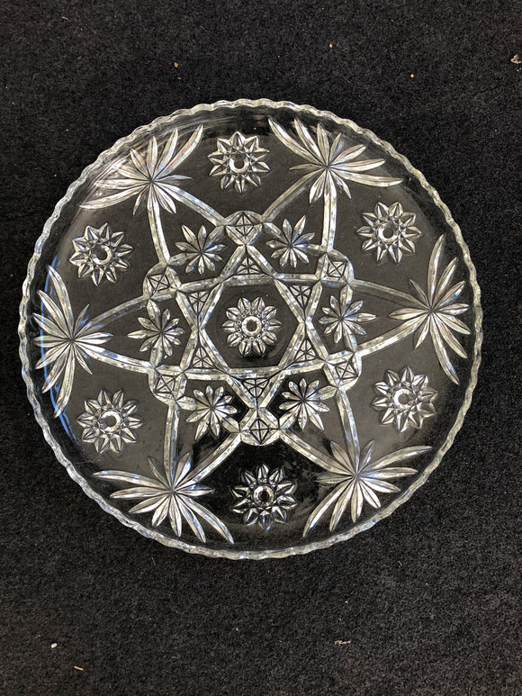 Large Glass Cake Plate (ref: 1196)