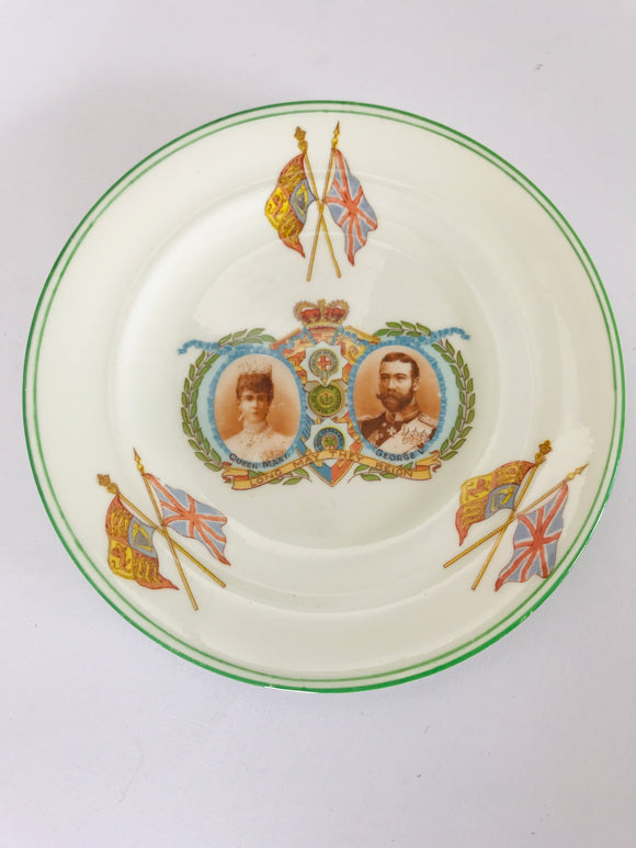 Antique Queen Mary & George V Plate (7916)