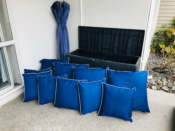 Outdoor Storage Box, Cushions + Umbrella (8278)