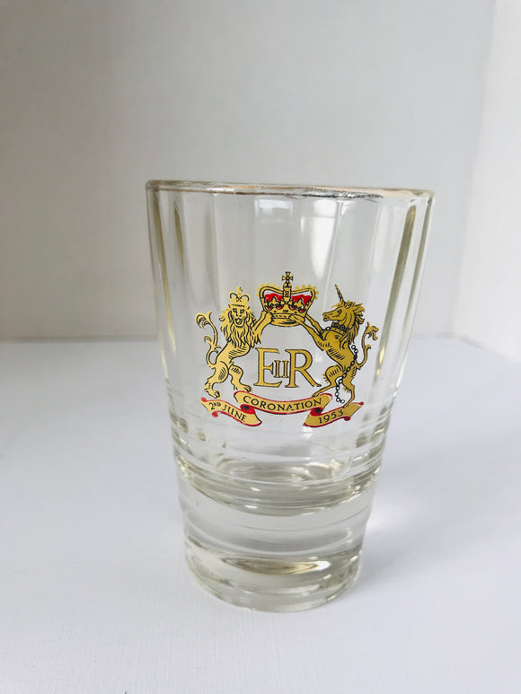 1953 Coronation Liqueur Glass (7923)