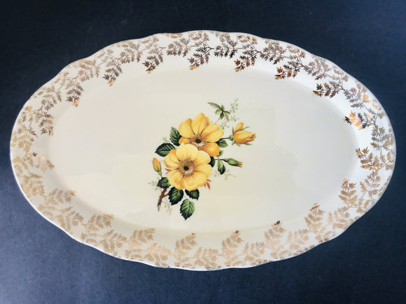 1950's Lord Nelson Ware Rose Platter (7968)