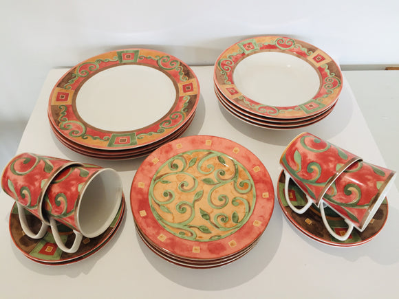 Interiors 'Catalina' 20 piece Dinner Set (ref: 7059)