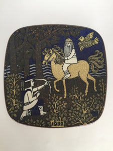 Vintage Arabia Finland 1982 Kalevala Annual Wall Plate Plaque (ref 7038)