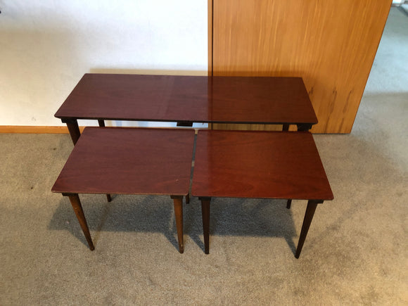 Nest of 3 Mid-Century Tables (8351)