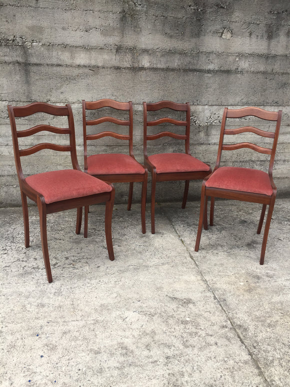 Mahogany Dining Chairs x 4 (7354)