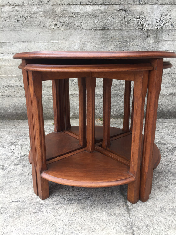 Art Deco Oak Nesting Tables (7355)