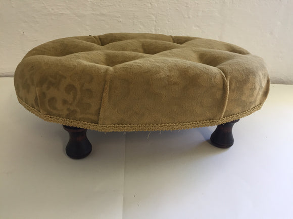 Gold Oval Velvet Footstool (7408)