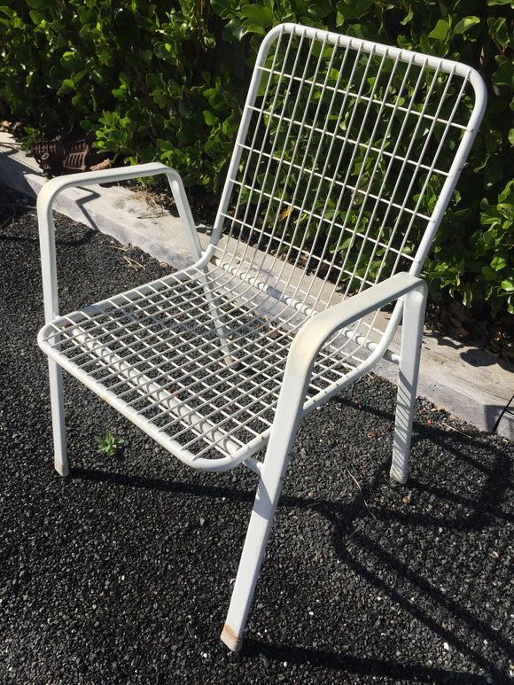 White Wire Chair x 1 (7413)