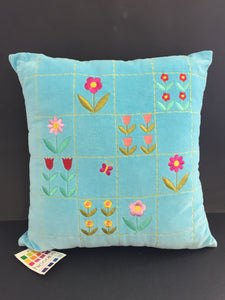 Childs Blue Velvet Cushion (7446)
