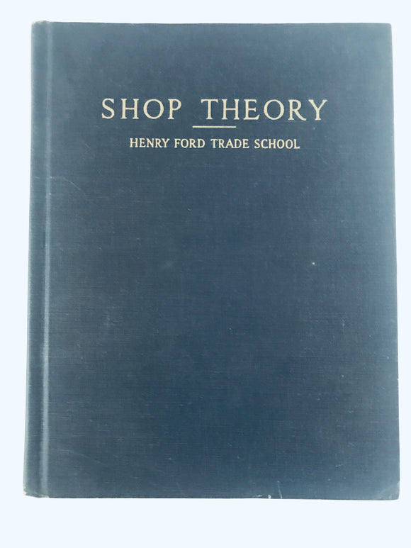 RARE: Henry Ford Trade School: Shop Theory (8488)