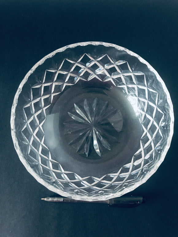 Small Cut Crystal Serving Bowl (8480)