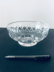 Small Cut Crystal Pedestal Serving Bowl (8481)