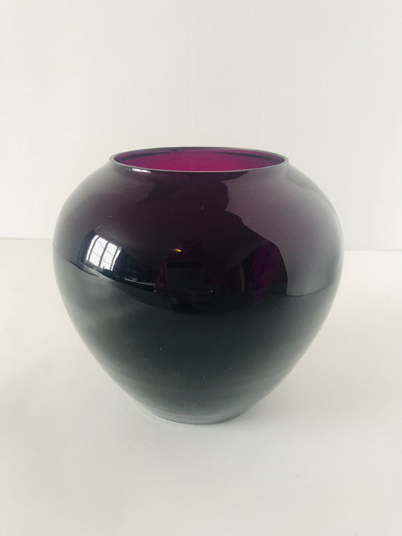 Purple Glass Vase (8484)