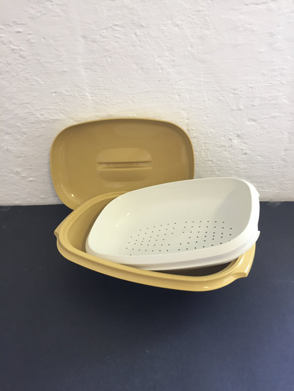 Retro Mustard Tupperware Steamer (7702)